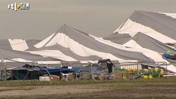 RTL Nieuws 'De tent ging een paar meter de lucht in'