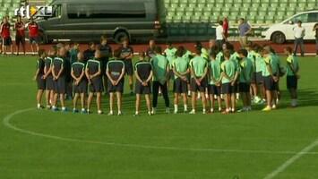 RTL Nieuws Minuut stilte bij training Barcelona