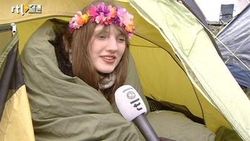 RTL Nieuws Barre kou kan kampeerders niet deren
