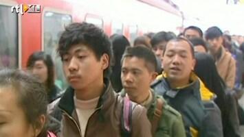 RTL Nieuws Enorme drukte in China door Nieuwjaar