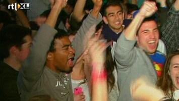 RTL Nieuws Spontaan feestje voor Witte Huis