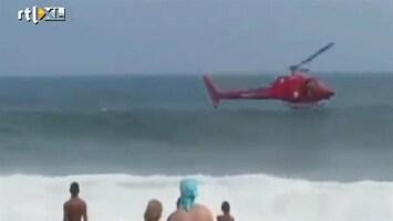 RTL Nieuws Helicopter crasht in branding Copacabana
