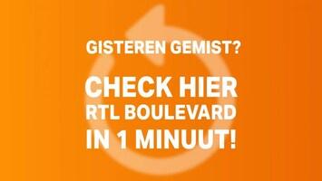RTL Boulevard in 1 minuut van 26 maart