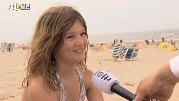 RTL Nieuws Dagje strand valt tegen: het was wel heel koud