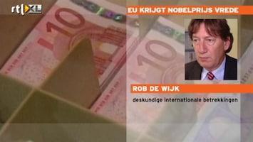 RTL Nieuws 'De EU wordt heel erg terecht met vredesprijs beloond'