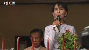RTL Nieuws Debuut Suu Kyi in parlement Myanmar