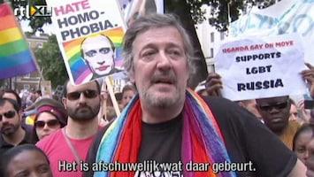 RTL Nieuws Fry bij anti-Poetinbetoging in Londen