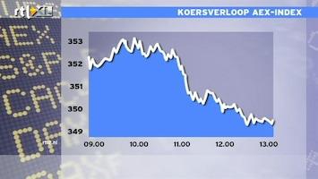 RTL Z Nieuws 13:00 AEX klapt in elkaar en staat op verlies voor 2011