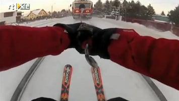Editie NL Nieuwe sport: trein-skieën