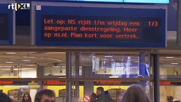 RTL Nieuws NS houdt aangepaste dienstregeling