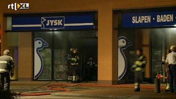 RTL Nieuws Grote brand verwoest meubelwinkels Oss
