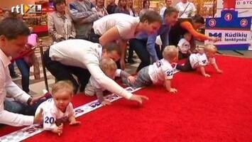 RTL Nieuws Kruipwedstrijd voor Litouwse baby's
