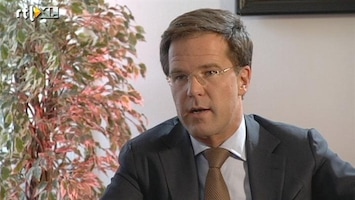 RTL Nieuws Rutte: 'Minder koopkracht maar optimistisch'