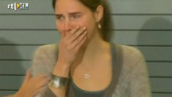 RTL Nieuws Emotionele Amanda Knox weer thuis