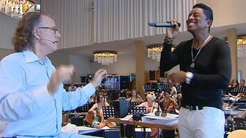 RTL Boulevard Andre Rieu repeteert met Jermaine Jackson