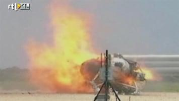 RTL Nieuws Ruimtevoertuig NASA crasht bij testvlucht