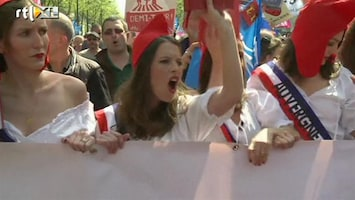RTL Nieuws Weer demonstraties tegen Frans homohuwelijk