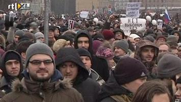 RTL Nieuws Russen massaal de straat op
