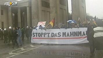 RTL Nieuws 2001: Neo-nazi's demonstreren bij Brandenburger Tor