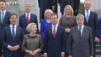 RTL Nieuws Nieuwe ministers op het bordes