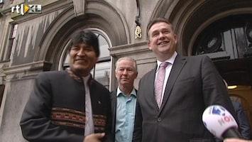 RTL Nieuws President Bolivia op bezoek bij SP-leider Roemer