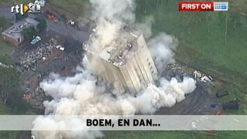 RTL Nieuws Gebouw stort niet in zoals gepland