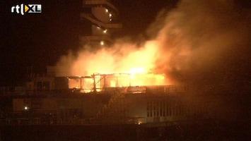 RTL Nieuws Felle brand in pier Scheveningen
