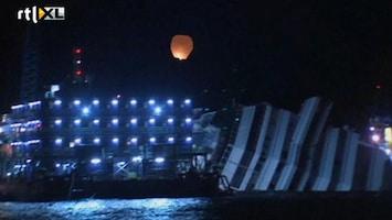 RTL Nieuws Herdenking ramp Costa Concordia met koor van sirenes