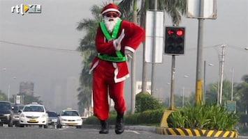 RTL Nieuws Kerstverkeersregelaar in Manila