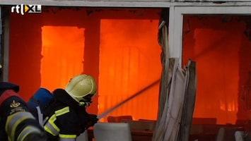 RTL Nieuws Sportschool in Heerlen in vlammen