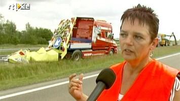 RTL Nieuws Heldin redt leven wegwerkers A32