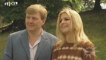 RTL Boulevard Maxima en Willem-Alexander bij persmoment