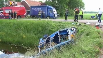RTL Nieuws Gewonden bij ongeluk met tuktuk in Drente