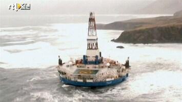 RTL Nieuws Gestrand boorschip Shell vlotgetrokken