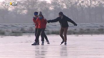 RTL Nieuws 'Prachtig ijs, maar het kraakt verschrikkelijk'