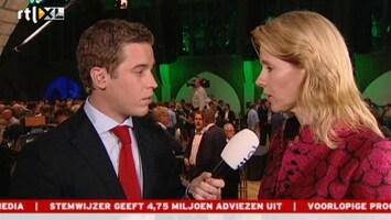 RTL Nieuws Zaal bij CDA muisstil na prognose