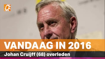 Vandaag in 2016: Johan Cruijff (68) overleden