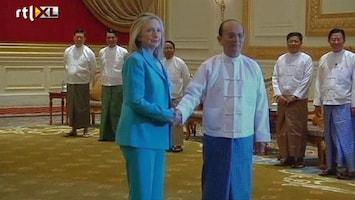 RTL Nieuws Clinton doet Myanmar beloftes