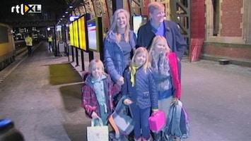 RTL Nieuws Willem-Alexander en gezin met de trein naar Lech