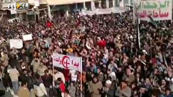 RTL Nieuws Massale protesten in Syrië
