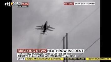 RTL Nieuws Amateurbeeld brandende Airbus in de lucht