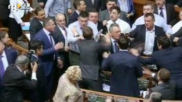 RTL Nieuws Bikkelharde taalstrijd in parlement Oekraïne