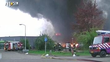 RTL Nieuws Grote brand in fabriekspand Nijkerk