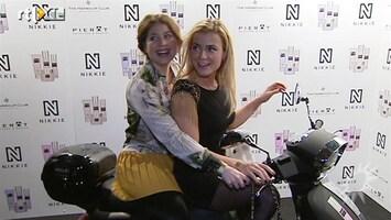 RTL Boulevard Gigi Ravelli won scooter bij modeshow Nikki Plessen