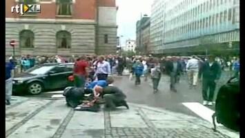 RTL Nieuws Ooggetuige filmt rampplek Oslo