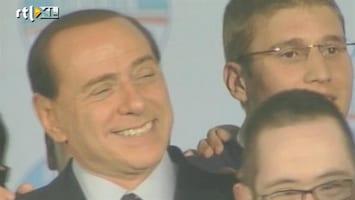 RTL Nieuws Feest in Rome bij vertrek Berlusconi