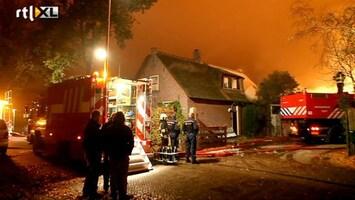 RTL Nieuws Felle brand in centrum Laren