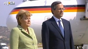 RTL Nieuws Spanningen in Griekenland bij aankomst Merkel