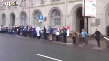 RTL Nieuws Demonstratie van 16 kilometer in Moskou