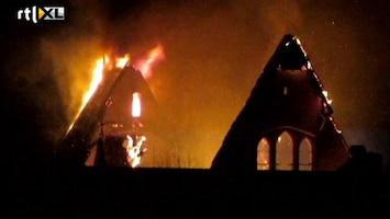 RTL Nieuws Kerkbrand Ameland schokt gemeenschap